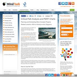 Critical Path Analysis and PERT - Project Management Skills from MindTools.com