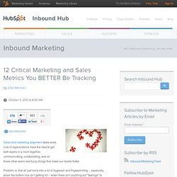 12 Critical Marketing and Sales Metrics You BETTER Be Tracking