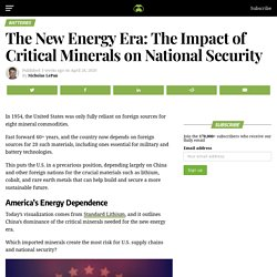 The New Energy Era: The Impact of Critical Minerals on National Security