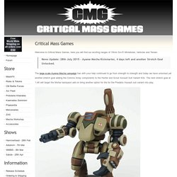 Critical Mass Games - 15mm Sci-Fi miniatures, terrain and vehicles