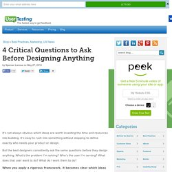 4 Critical Questions to Ask Before Designing Anything