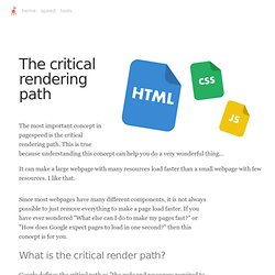 Critical render path and pagespeed: An in-depth look
