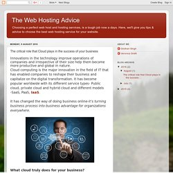 The critical role that Cloud plays in the success of your business - The Web Hosting Advice