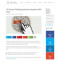 10 Critical Thinking Activities Students Will Love