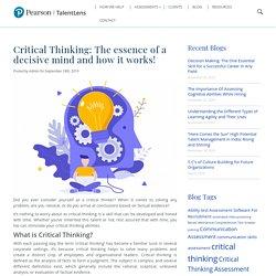 Critical thinking demand of itself