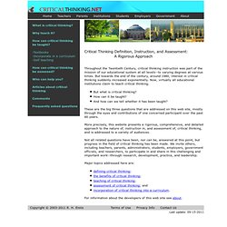 Critical Thinking Home Page
