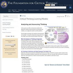 Critical Thinking Learning Models