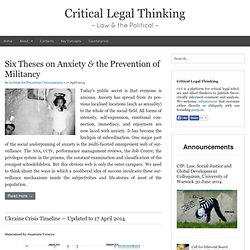 Critical Legal Thinking › Law & the Political