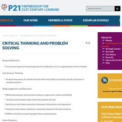 Critical Thinking and Problem Solving - P21