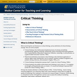 Critical Thinking and Problem-solving
