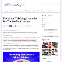 25 Critical Thinking Strategies For The Modern Learner