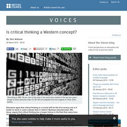 Is critical thinking a Western concept?
