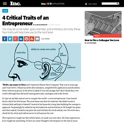 4 Critical Traits of an Entrepreneur