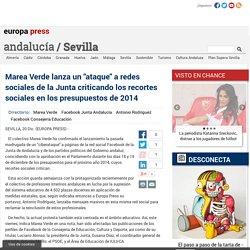 """Marea Verde lanza un """"ataque"""" a redes sociales de la Junta criticando los recortes sociales en los presupuestos de 2014"""