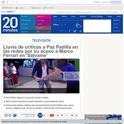 Lluvia de críticas a Paz Padilla en las redes por su acoso a Marco Ferrari en 'Sálvame'