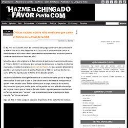 Críticas racistas contra niño mexicano que cantó el himno en la final de la NBA