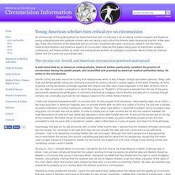 Young US scholars criticise circumcision