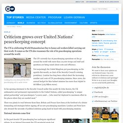Criticism grows over United Nations' peacekeeping concept