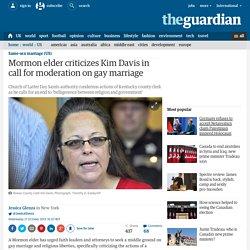 Mormon elder criticizes Kim Davis in call for moderation on gay marriage