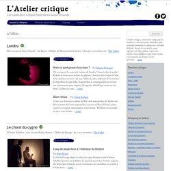 L'actualité de la critique théâtrale en Suisse romande