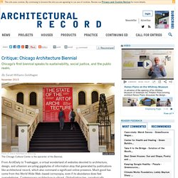 Critique: Chicago Architecture Biennial