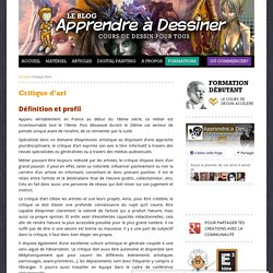 Critique d'art -