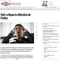 Valls critique la défection de Peillon