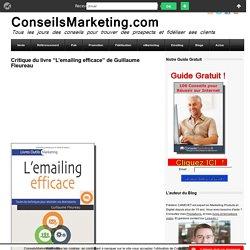 """Critique du livre """"L'emailing efficace"""" de Guillaume Fleureau"""