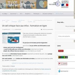 Un œil critique face aux infos : formation en ligne