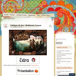 Critique de jeu : Robinson Crusoe