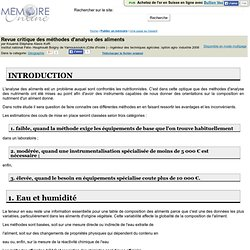 Institut national Félix- Houphouët Boigny de Yamoussoukro (Côte d'Ivoire ) - 2009 – Mémoire en ligne : Revue critique des méthod