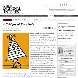 A Critique of Pure Gold