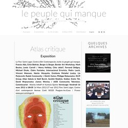 Atlas Critique » le peuple qui manque - a people is missing