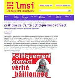 Critique de l'anti-politiquement correct