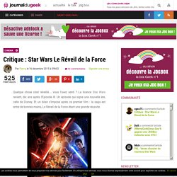 Critique : Star Wars Le Réveil de la Force