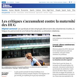 Hôpital cantonal: Les critiques s'accumulent contre la maternité des HUG