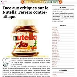 Face aux critiques sur le Nutella, Ferrero contre-attaque