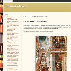CRIVELLI, L'annonciation, 1486