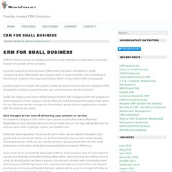 CRM for Small Business -