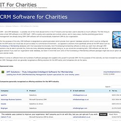 List of CRM Software for Charities
