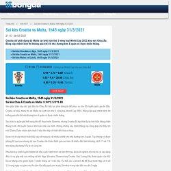 Soi kèo Croatia vs Malta, 1h45 ngày 31/3/2021