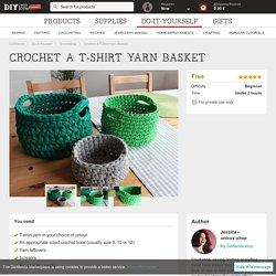 Crochet a T-Shirt Yarn Basket