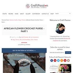 Crochet African Flower Purse - Free Pattern