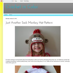 Just Another Sock Monkey Hat Pattern