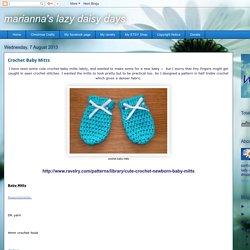 marianna's lazy daisy days: Crochet Baby Mitts
