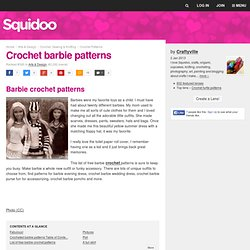 Crochet barbie patterns
