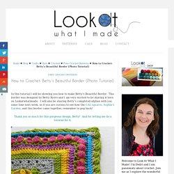 How to Crochet: Betty's Beautiful Border {Photo Tutorial}