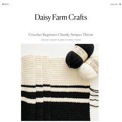Crochet Beginner Chunky Stripes Throw