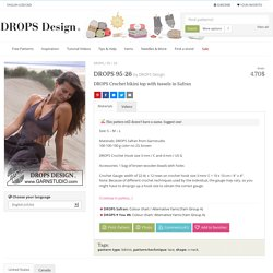 DROPS 95-26 - DROPS Crochet bikini top with tassels in Safran - Free pattern by DROPS Design