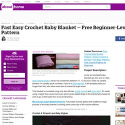 Fast Easy Crochet Baby Blanket (Beginners) Free Pattern